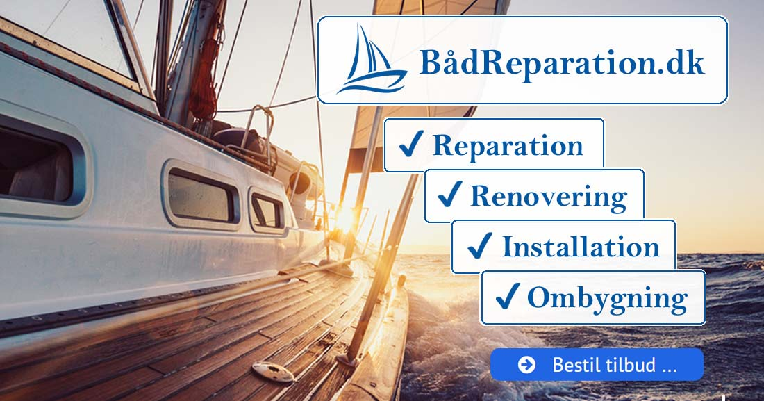 Bestil Tilbud :: BådReparation.dk / Århus - Reparation | Renovering | Installation | Ombygning Vi tilbyder alle former for reparationer, renoveringer og ombygninger i glasfiber og træ på glasfiberbåde og træbåde. Endvidere udfører vi installation og reparation af udstyr i alle bådtyper. Arbejdet udføres af erfaren og uddannet bådebygger fra mobilt værksted eller på vores egne faciliteter.